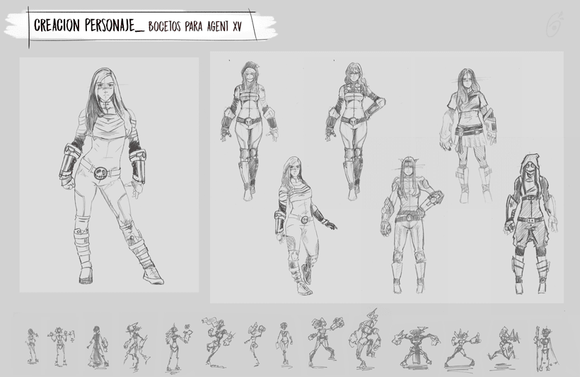 Agent XV - Mi Proyecto del curso: Diseño de personajes para concept art 2
