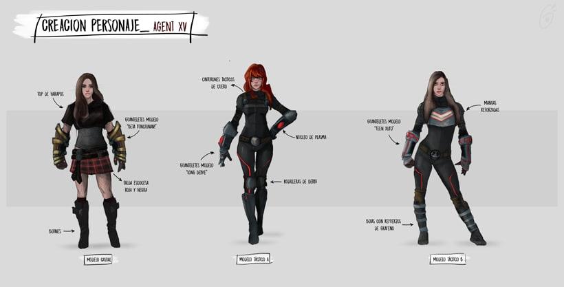 Agent XV - Mi Proyecto del curso: Diseño de personajes para concept art 3