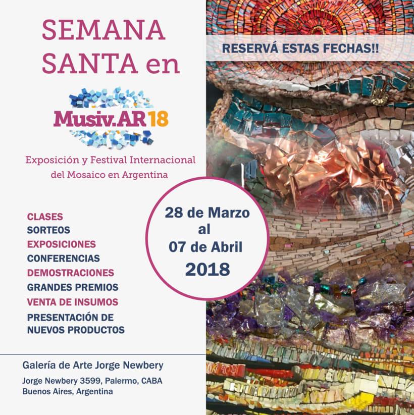 Comunicación Visual en la Exposición y Festival Internacional del Mosaico en Argentina 1