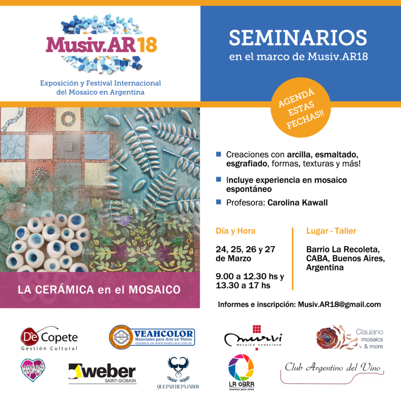 Comunicación Visual en la Exposición y Festival Internacional del Mosaico en Argentina 2
