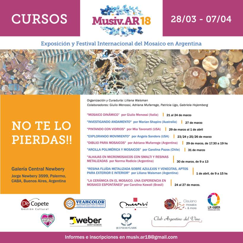 Comunicación Visual en la Exposición y Festival Internacional del Mosaico en Argentina 3