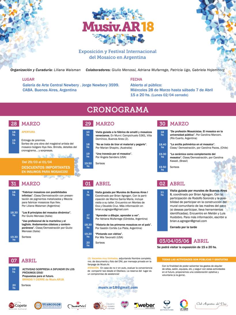 Comunicación Visual en la Exposición y Festival Internacional del Mosaico en Argentina 4