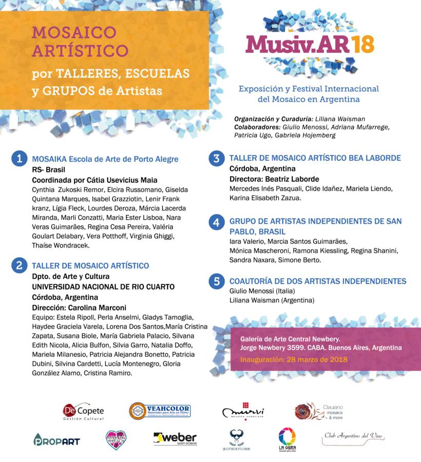 Comunicación Visual en la Exposición y Festival Internacional del Mosaico en Argentina 5