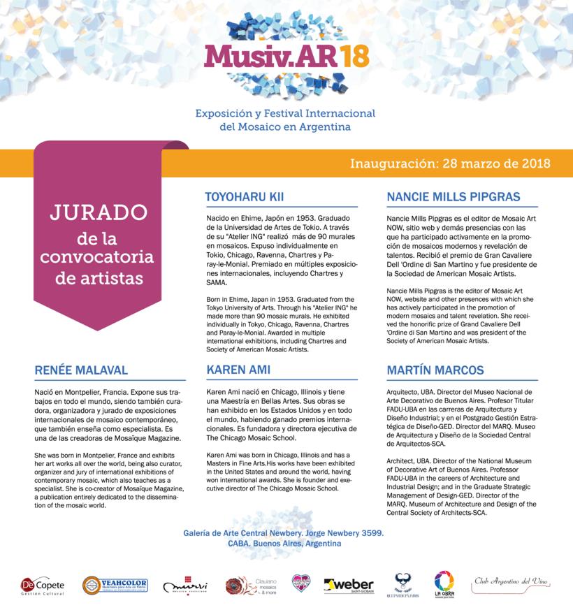 Comunicación Visual en la Exposición y Festival Internacional del Mosaico en Argentina 6