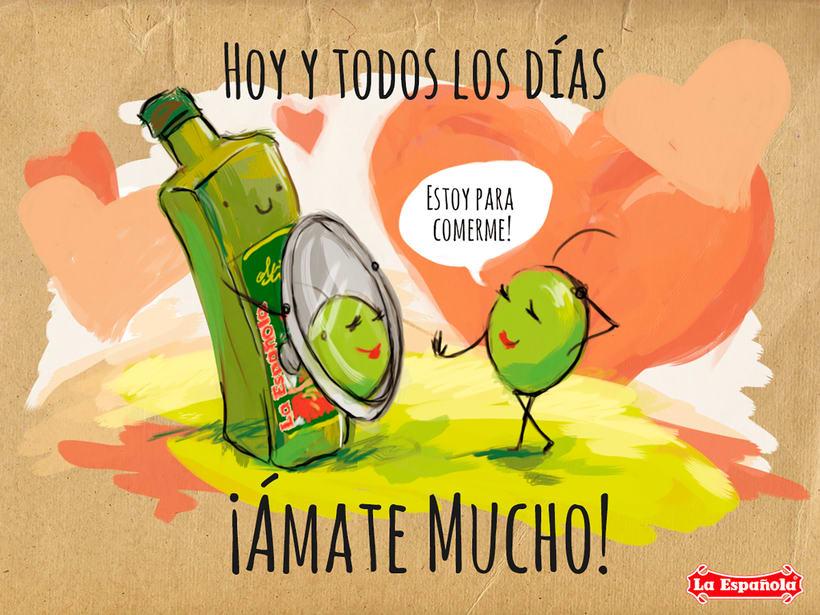 Campaña ilustración LA ESPAÑOLA ACEITES 4