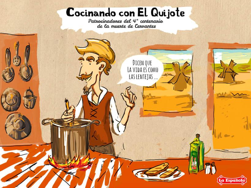 Campaña ilustración LA ESPAÑOLA ACEITES 7