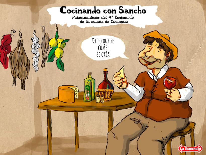 Campaña ilustración LA ESPAÑOLA ACEITES 8