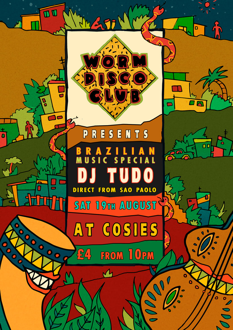 worm disco club posters 2017 0