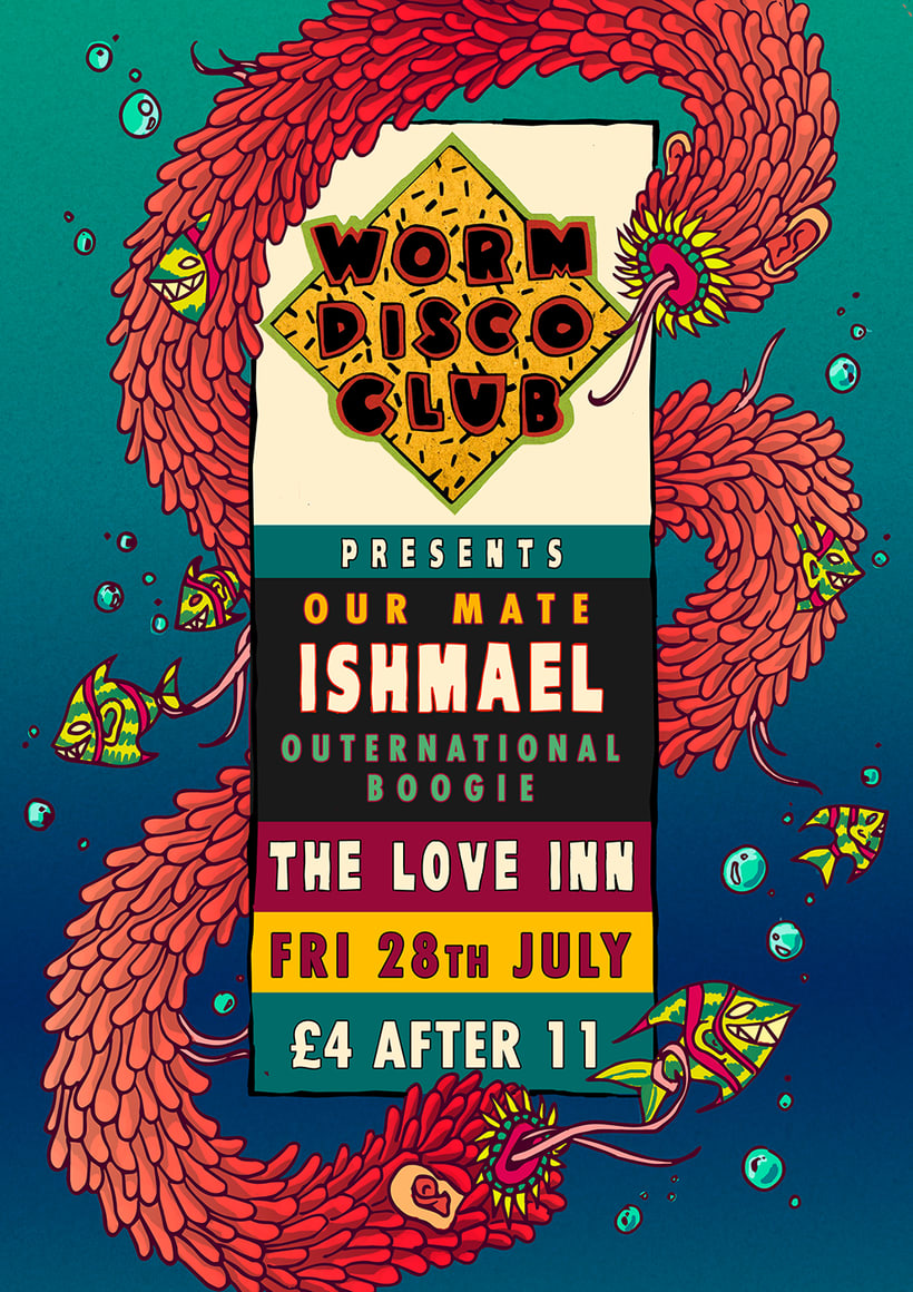 worm disco club posters 2017 1