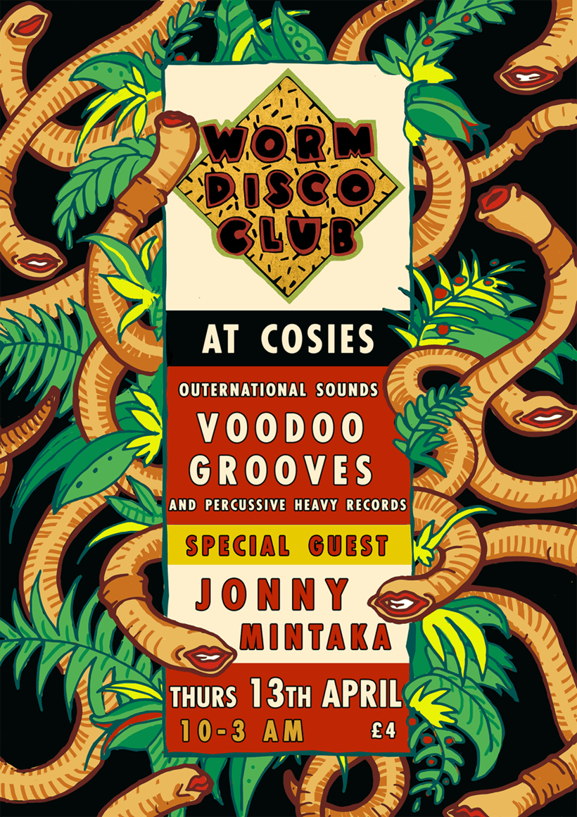 worm disco club posters 2017 4