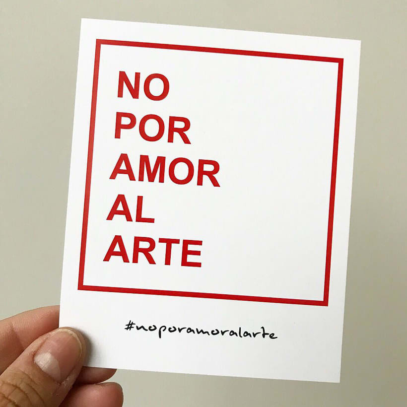 #noporamoralarte, una iniciativa para acabar con el trabajo no remunerado 7