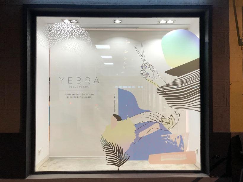 Diseño de Escaparate para Yebra Estilistas  2