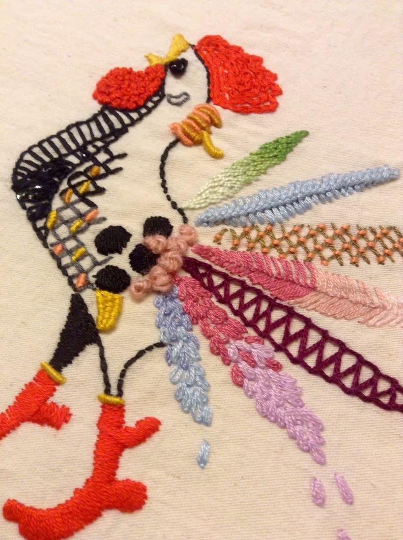 Mi Proyecto del curso: Técnicas de bordado: ilustrando con hilo y aguja 1