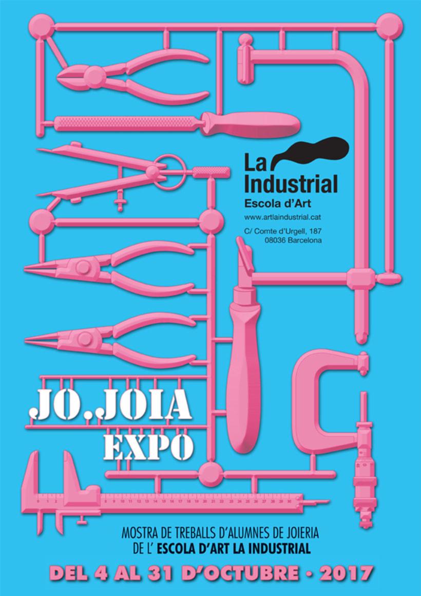 Cartel para la expo JoJoia · circuito OffJoya de Joya Barcelona [2016 y 2017] 1
