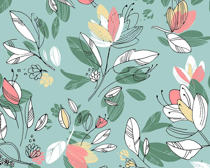 Pattern Design - Diseño floral de estampado para superficies 0