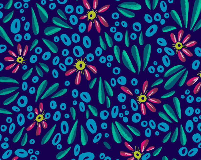 Pattern Design - Diseño floral de estampado para superficies 1