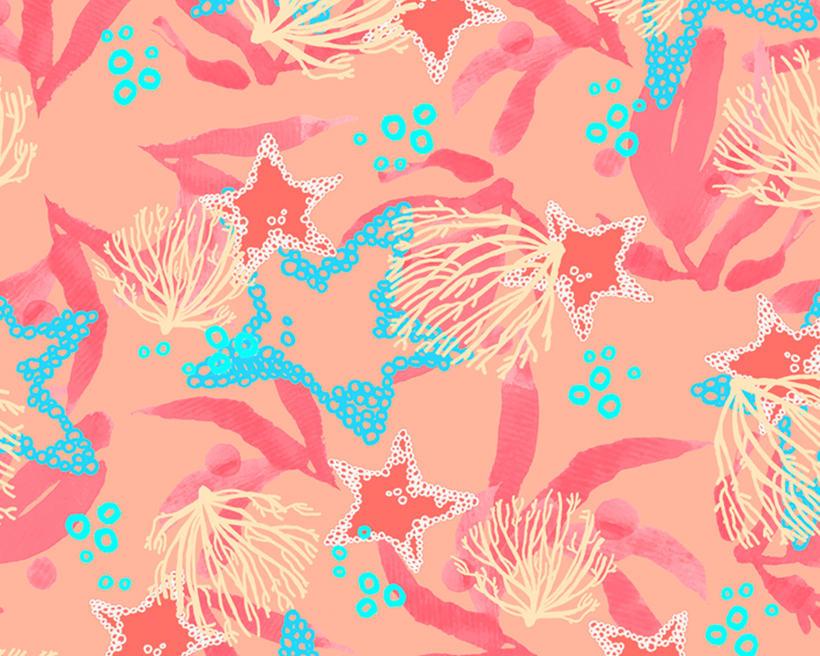 Pattern Design - Diseño marino de estampado de superficies 0