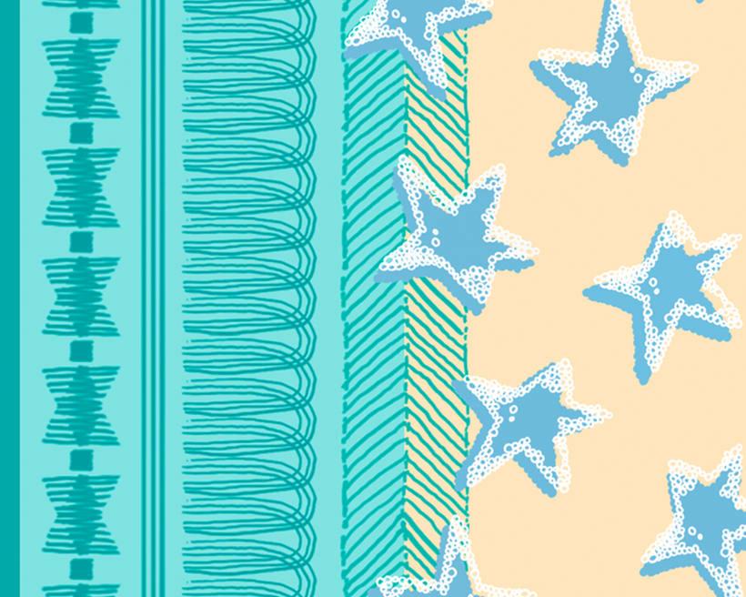 Pattern Design - Diseño marino de estampado de superficies 1