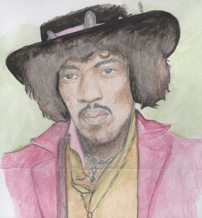 Jimi Hendrix, retrato. -1