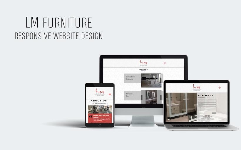 LM Furniture - Logotipo y Diseño Web/ Logo and Web Design 0