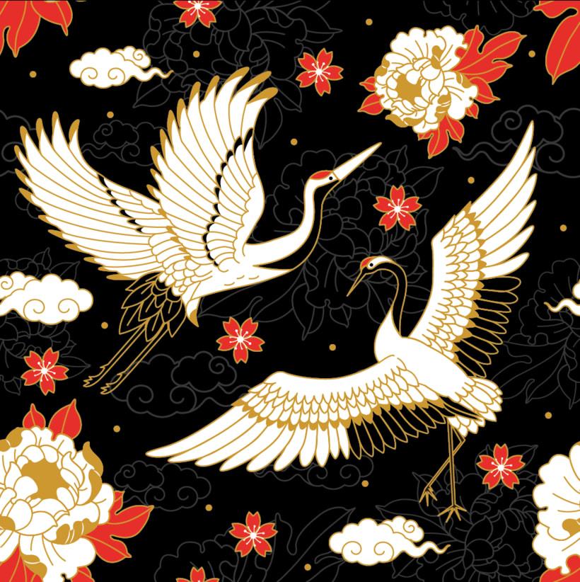 Japanese cranes & Sacred Snakes - Colombiamoda 2018 0