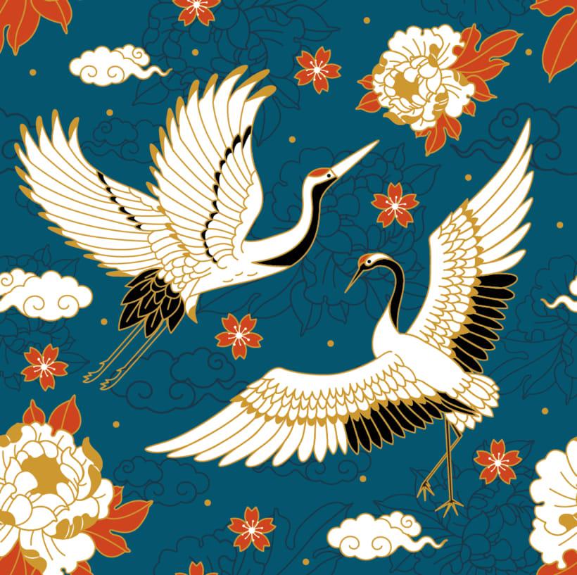 Japanese cranes & Sacred Snakes - Colombiamoda 2018 1