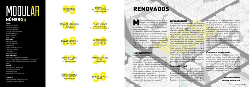 Diseño Editorial y Fotografía para Revista Modular 2