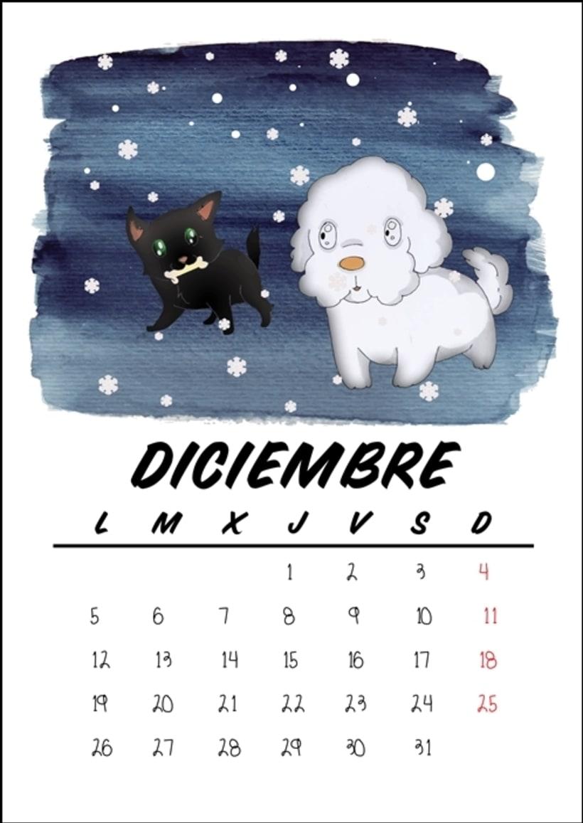Calendario benéfico con ilustraciones felinas 15
