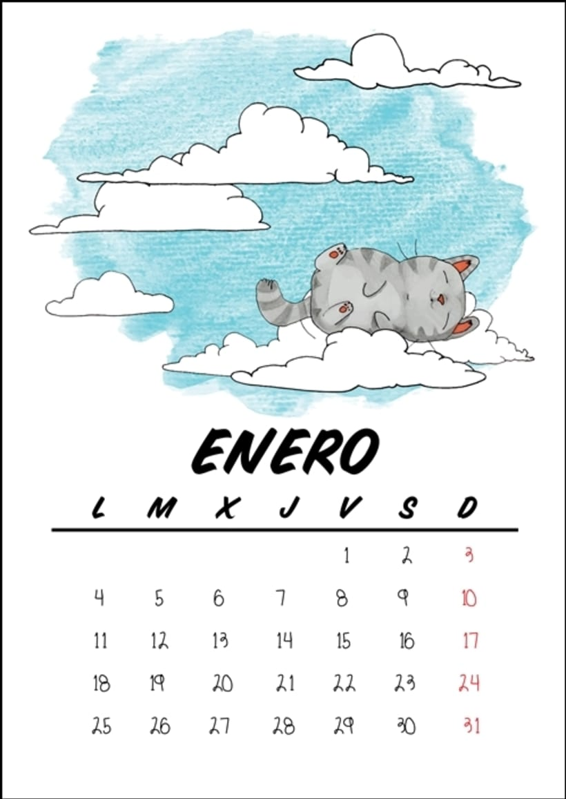 Calendario benéfico con ilustraciones felinas 4