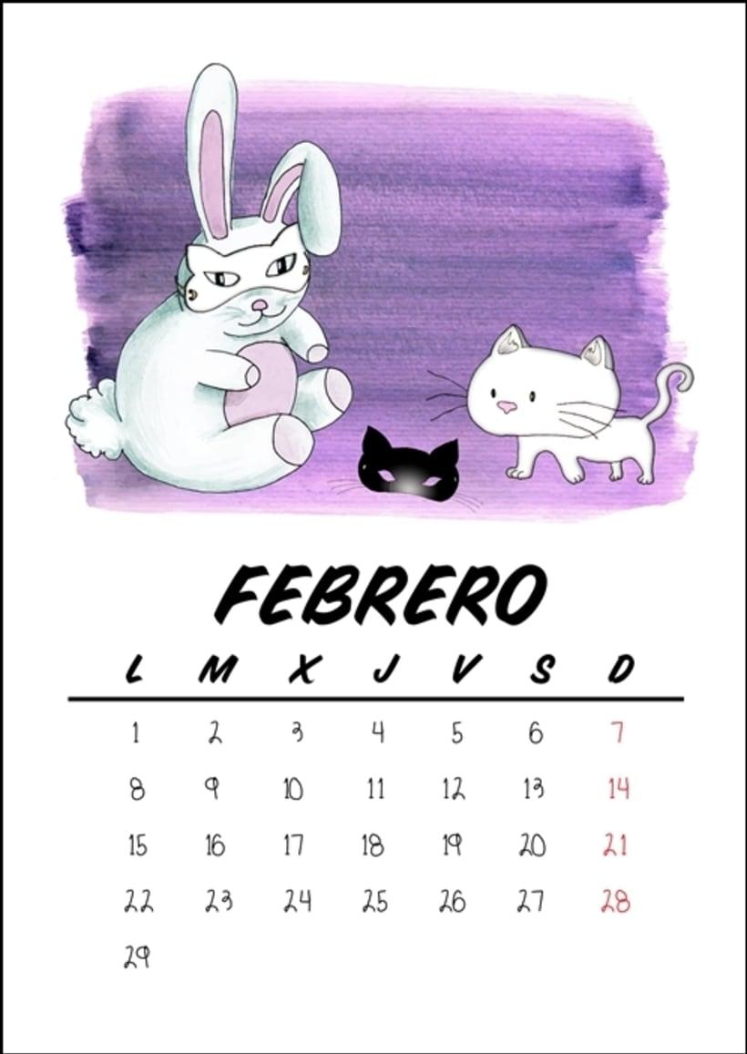Calendario benéfico con ilustraciones felinas 5