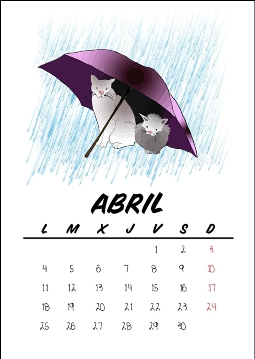 Calendario benéfico con ilustraciones felinas 7