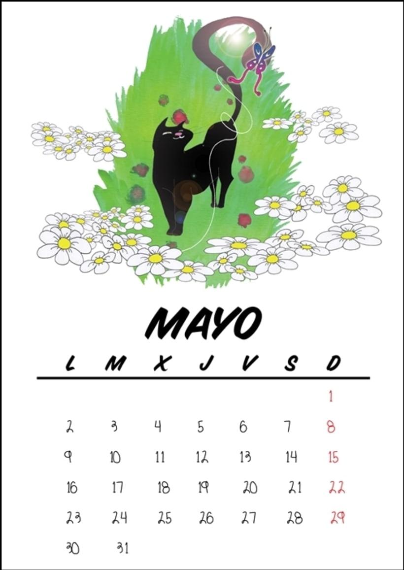 Calendario benéfico con ilustraciones felinas 8