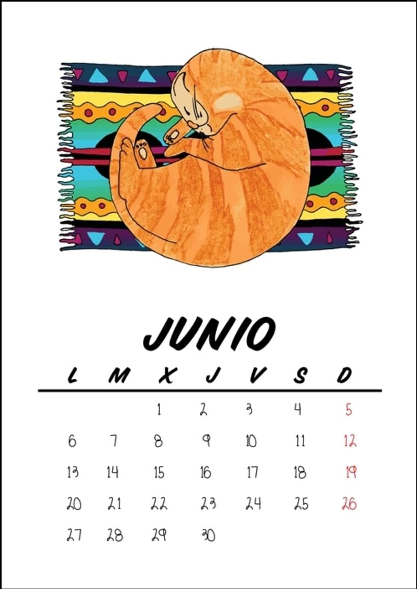 Calendario benéfico con ilustraciones felinas 9