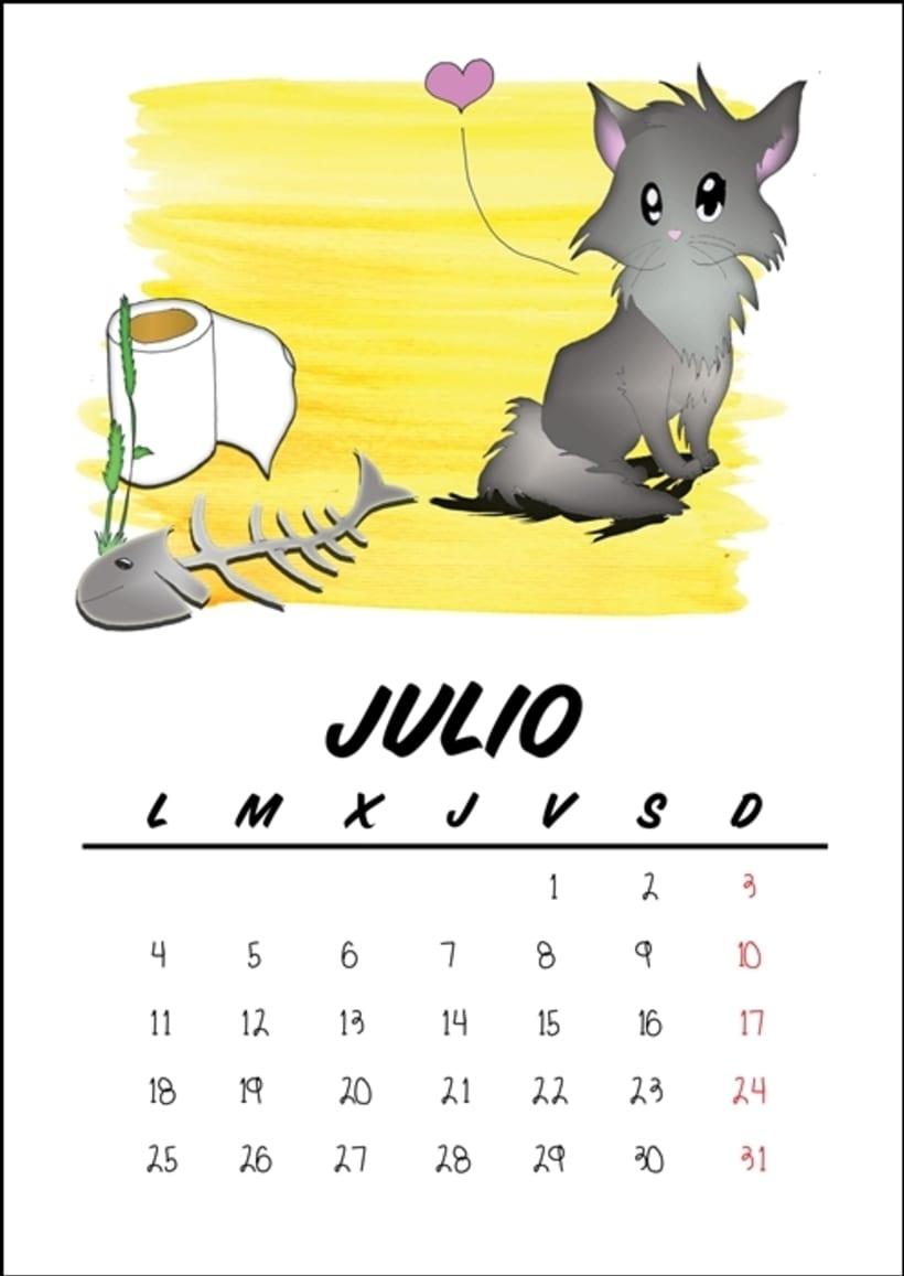 Calendario benéfico con ilustraciones felinas 10