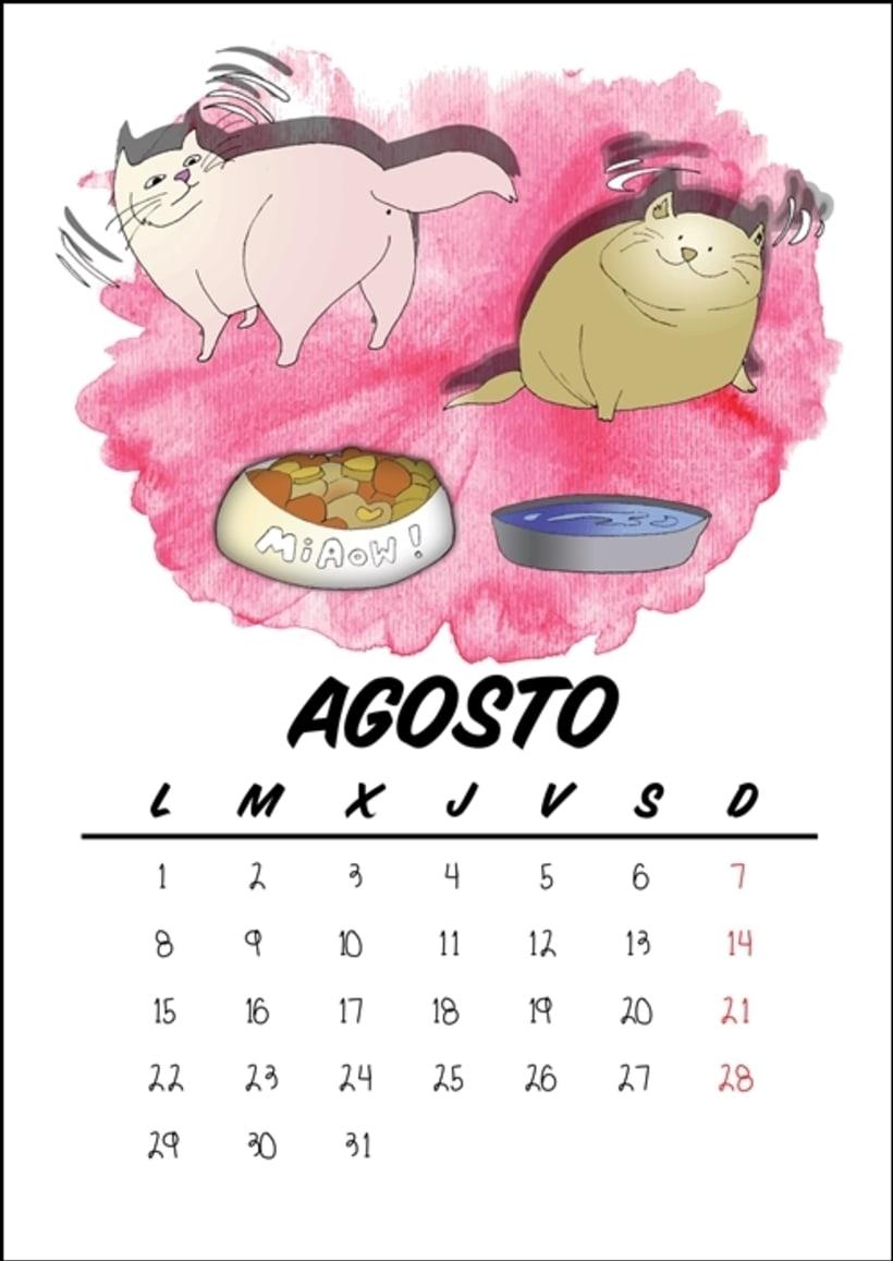 Calendario benéfico con ilustraciones felinas 11