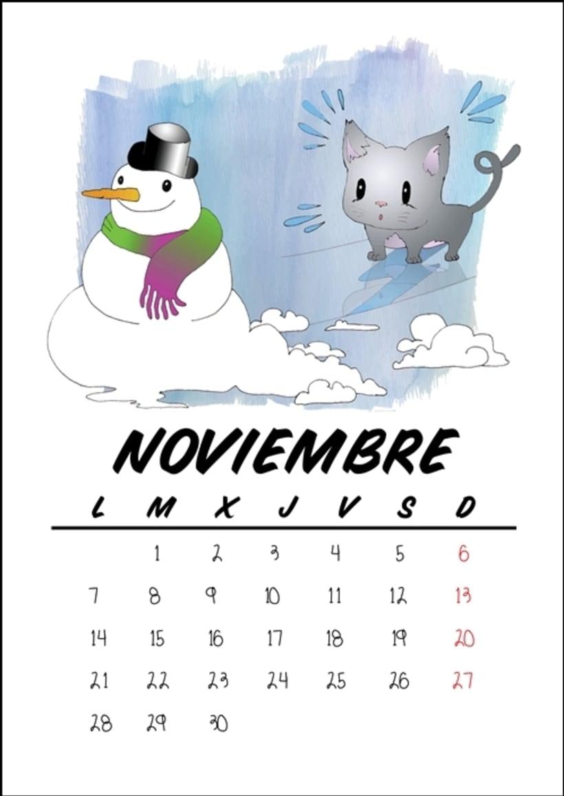 Calendario benéfico con ilustraciones felinas 14