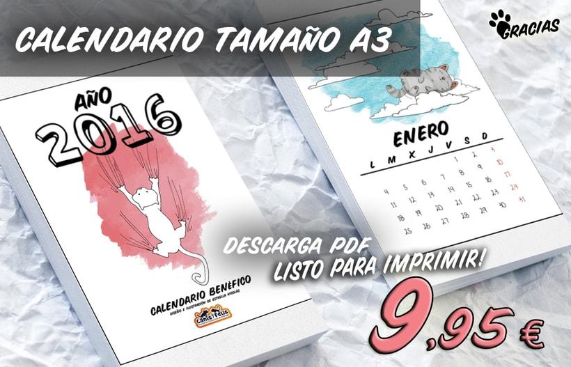 Calendario benéfico con ilustraciones felinas 17