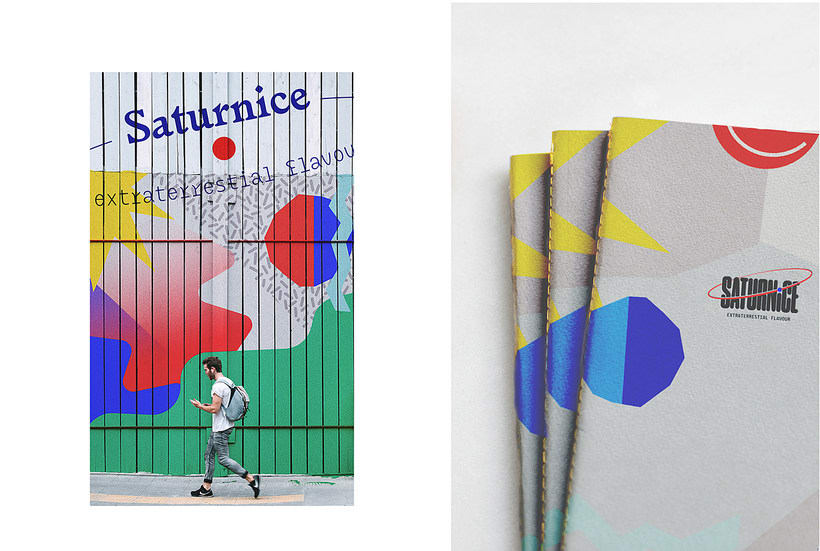 SATURNiCE | Ice Cream Van Branding 8