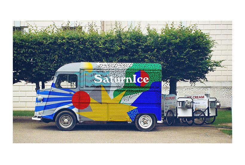 SATURNiCE | Ice Cream Van Branding 11