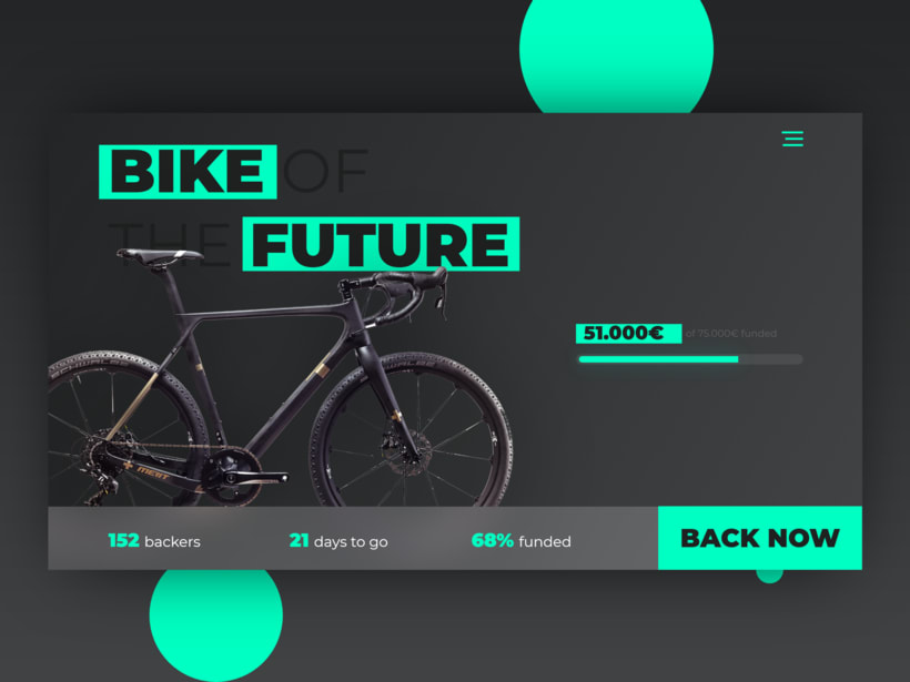 Daily UI 032: Crowdfunding Campaign 2