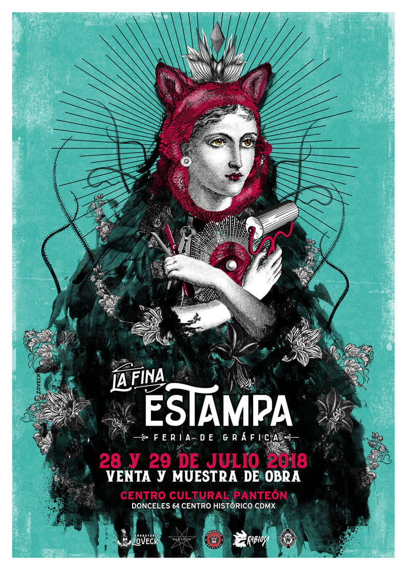 Diseño e ilustración de afiche para Feria Gráfica  0