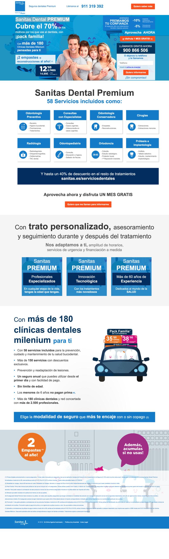 """Landin page para """"Sanitas"""" - Sanitas Dental PREMIUM - Responsive design 0"""