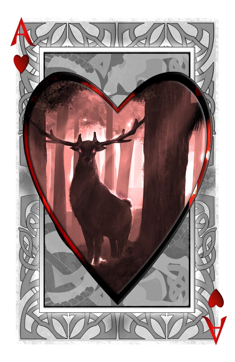 Baraja de póquer nórdica ilustración completa 1