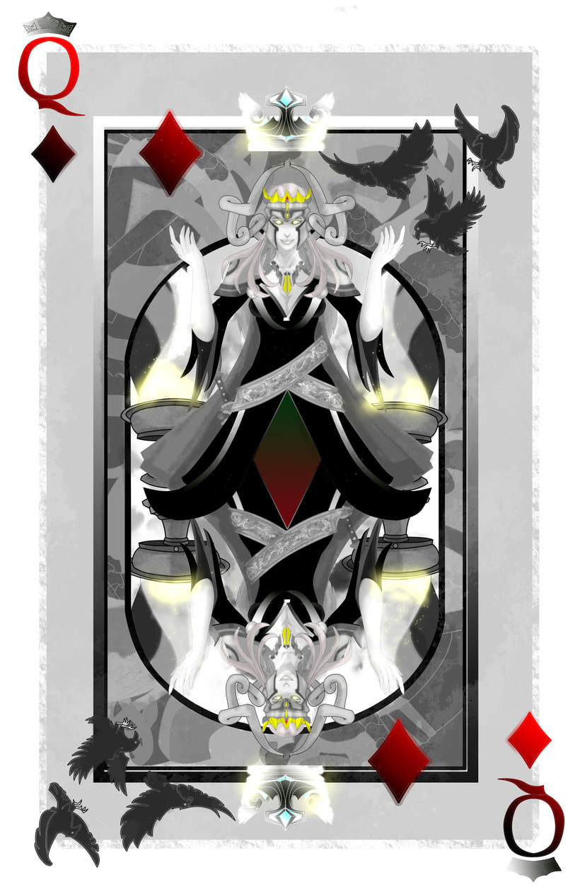Baraja de póquer nórdica ilustración completa 0