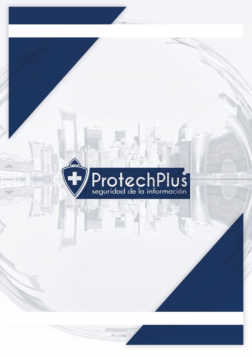Renovación Imagen Corporativa Protechplus - Post a diseño de Folleto Publicidad 2