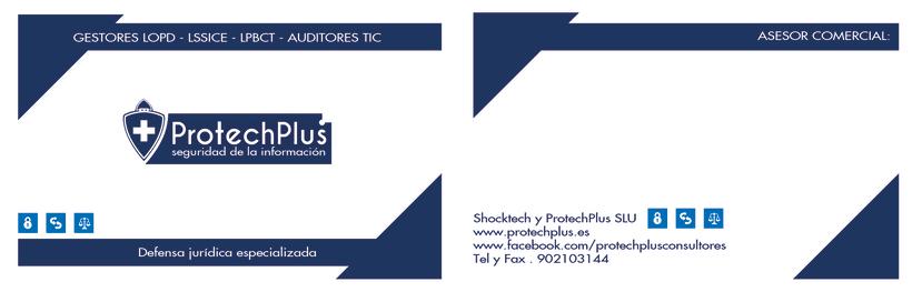 Renovación Imagen Corporativa Protechplus - Post a diseño de Folleto Publicidad 3