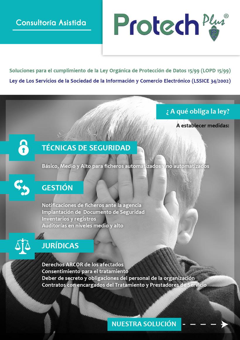 Renovación Imagen Corporativa Protechplus - Post a diseño de Folleto Publicidad 4