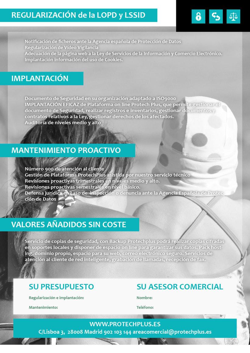 Renovación Imagen Corporativa Protechplus - Post a diseño de Folleto Publicidad 5