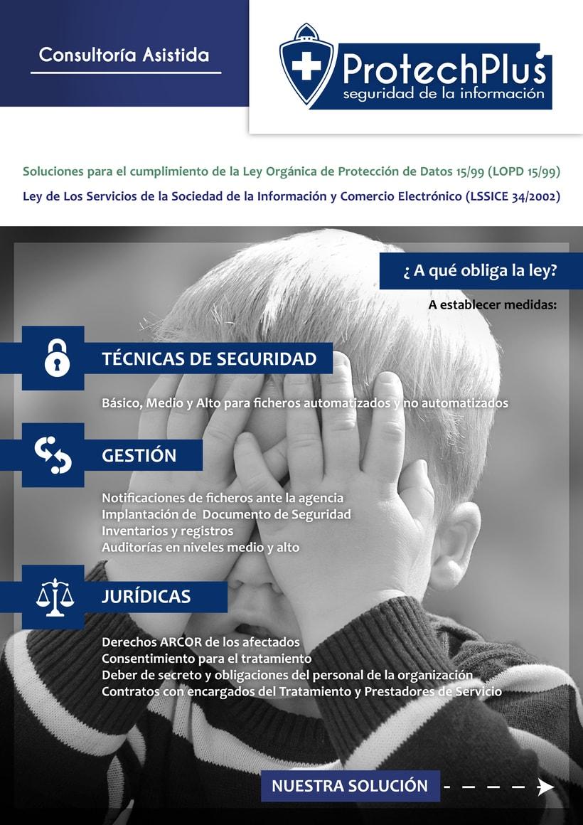 Renovación Imagen Corporativa Protechplus - Post a diseño de Folleto Publicidad 6
