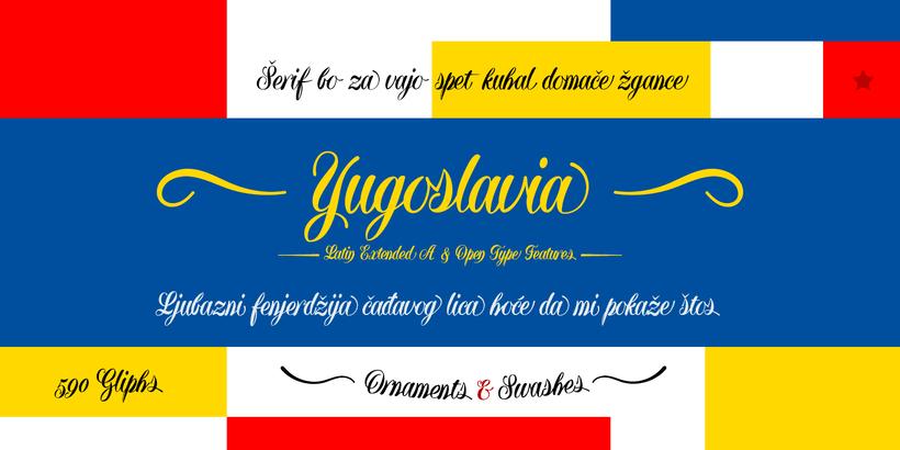 Yugoslavia, fuente caligráfica 2